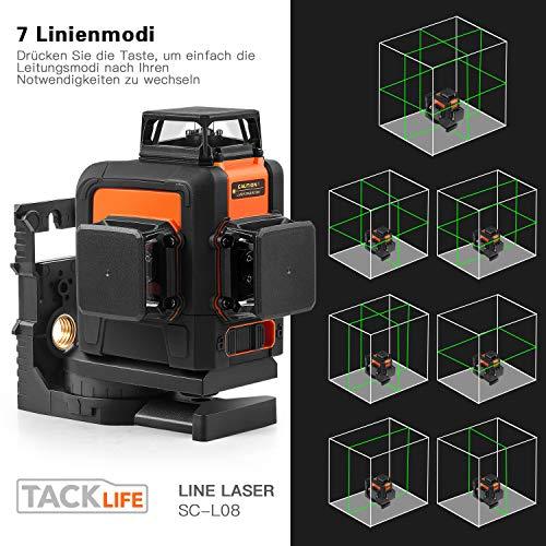 TACKLIFE Kreuzlinienlaser 3×360° Linienlaser - 2