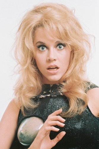 Mini-Poster Jane Fonda als Barbarella in Barbarella, 28 x 43 cm