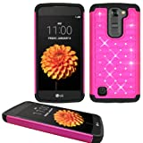 Phone Case for LG Treasure 4G LTE (Straight Talk) / LG Phoenix 2 4g LTE / LG Escape 3 4g LTE / LG K7 ( MetroPCS ) / LG Tribute 5 / LG M1 Crystal-pink-black Silicone Cover