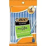 BIC Round Stic Xtra Life Ballpoint Pen, Medium Point (1.0mm), Blue, 10-Count