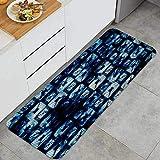 xiaolang Tappetino Cucina,Batik Tie Dye Pattern Classico,per Pavimento di casa Ufficio lavandino Lavanderia Super Assorbente Antiscivolo