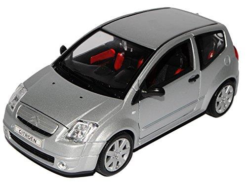 Welly Citroen C2 Silber 3 Türer 2003-2010 1/24 Modell Auto
