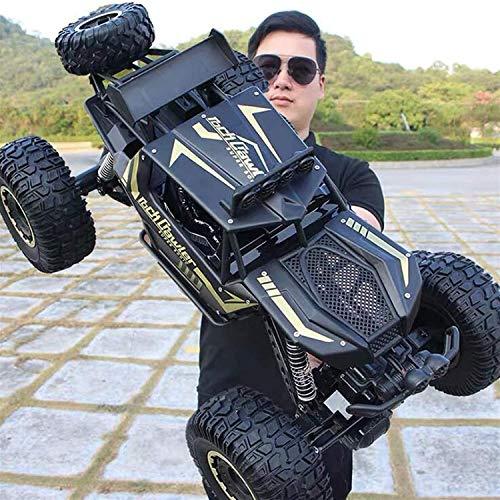 Kikioo Coche de control remoto, 1: 10 coches gigantes para niños RC Monster Reptile Truck 4WD Aleación Off Road Rock Crawler Coche eléctrico Niños Adultos Drift Racing Car 2.4Ghz Escalada Buggy Car Ni