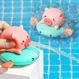 sommen Bath Toys Wind-up Swimming Piglet Baby Bath Toys, Bathtub Toy for Kids,Multi-Colors Floating Toy Gift for Toddler Children Boys and Girls 2PCS with Beautiful Box