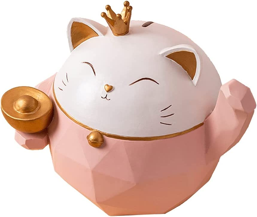 ZSM Purchase Money Bank Cat Shape Piggy and Resin Low price Ba Blue Pink