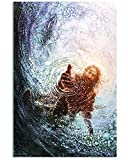 Take My Hand Jesus Reaching Out Jesus Hand Print, Jesus Save Us Poster & Canvas Gift Wall Decor (Paper, 11x17)