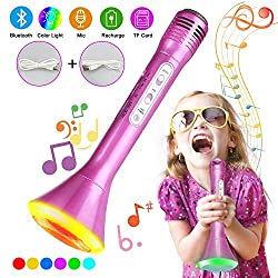 60%OFF Fixget Wireless Karaoke Microphone, Bluetooth Portable Microphone for Kids