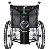 ZHEEYI Oxygen Cylinder Bag for Wheelchairs with Buckles, Fits Any Wheelchair, Black (Fits Most Oxygen...
