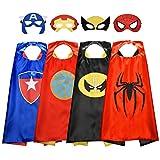 Easony Superhelden Kostüm für Junge 3-12 Jahre, Geschenke für Jungen ab 3-10 Cosplay Umhänge...