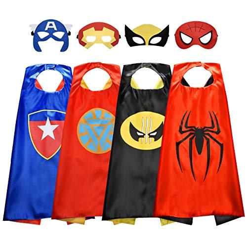 Easony Superhelden Kostüm für Junge 3-12 Jahre, Geschenke für Jungen ab 3-10 Cosplay Umhänge Kinderkleidung für 3-8 Jahre Cosplay Kostüm für Junge 3-10 Jahre Superheld Spielzeug für Jungen 3-10 Jahre