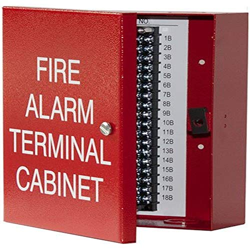 Space Age Electronics Ssu00635, Tc1 18-Point Terminal Cabinet With Captive Screw Lock, Red Finish