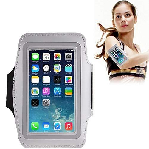 La Caja del Brazalete Deportes Paulcase Universal de la PU con el Auricular del Agujero for el iPhone 7 / iPhone 6 / Galaxy S IV / i9500 / S III / i9300 (Rosa),StarLightd (Color : Silver)