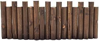 Best wooden log roll border Reviews