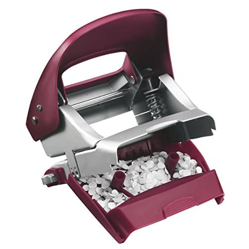 Leitz Hole Punch, 30 Sheets, Guide Bar with Format Markings, Metal, Style Range, 50060028 - Garnet Red |