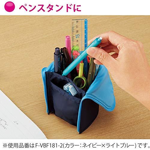 コクヨペンケース筆箱ペン立てネオクリッツラージサイズブラック×ダークグレーF-VBF181-1
