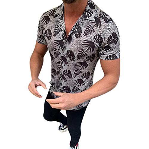 Camisetas Hombre Camisas de Manga Corta con Cuello Redondo y Estampado Smiley Tops de Verano Elegante Polos de BáSica Camiseta para Hombres Diario 3XL