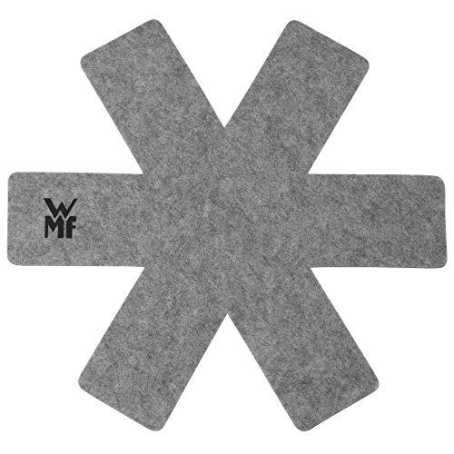 WMF Topf- und Pfannenschutz, 2 Stück, Schutzmatte vor Kratzer und Beulen, Schoner aus Kunststoff-Flies, geeignet für alle Größen
