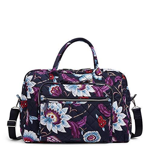 Vera Bradley Women's Performance Twill Weekender Travel Bag, Mayfair in Bloom, One Size