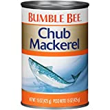 BUMBLE BEE Chub Mackerel, 15 Ounce Can (Pack of 12), Canned Mackerel, High Protein, Keto Food, Keto Snack, Gluten Free, Paleo...