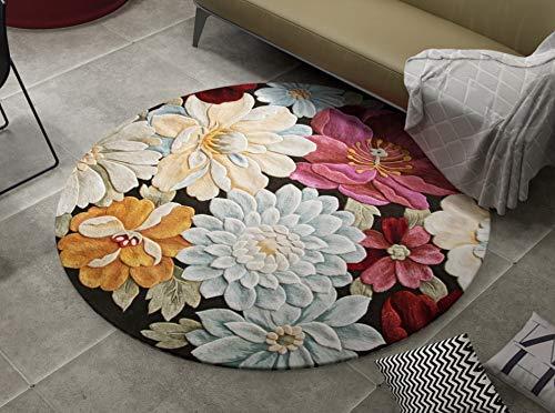 Simpbuy Alfombra de salón estilo chino Lotus Dormitorio Dormitorio Dormitorio Mesita de noche Moda Moda Orquídea Ordenador Balcón Cloakro Om Mat 80 cm x 80 cm