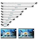 VARMHUS 18-112 cm LED Aquarium-Licht Unterwasserbeleuchtung Aufsetzleuchte Abdeckung Wasserdicht Lampe Stecker EU für Fisch Tank (1.8 * 112cm, Weiß & Blau)