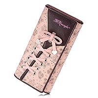 ミネサム Minesam 財布 レディース 三つ折り 長財布 l字 かわいい ピンク 大容量 人気安い ピンク