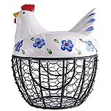 Keramischer Schinkenkorb Mit Keramischem Obstkorb des Griffs, Eierkorbgemüsekorb-Aufbewahrungskorb. FENPING (Color : Blue)