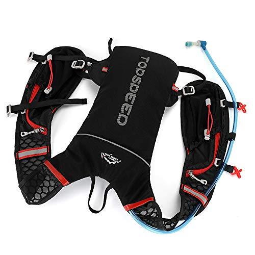 JIAGU Guadagna Daypack Zaino for l'idratazione Outdoor Zaino for attività Fisica Leggera Adatto for Arrampicata e Trekking 5L Pacchetto di idratazione (Color : Black, Size : 33 * 17m)