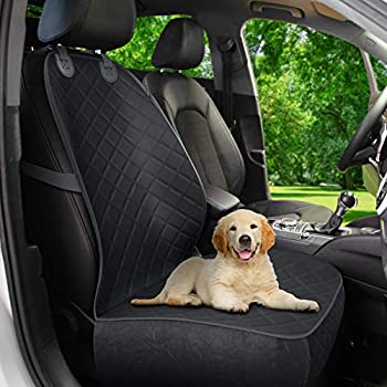 Active Pets Front Seat Dog Cover Durable Protector Against Mud & Fur Waterproof Scratch Proof & Nonslip Seat Pet Cover - Dog Car Seat Cover for Front Seat With Safety Anchors for Cars Trucks & SUVs
