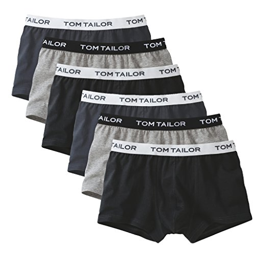 TOM TAILOR - Hip Pant Boxer-Short Buffer - 70162-6er Spar-Pack (XL Grau/Anthrazit/Schwarz)