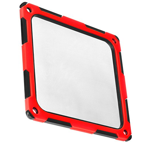 SilverStone Technology SST-FF124BR-E 120mm Ultra Fine Fan Filter with Magnet Cooling Red