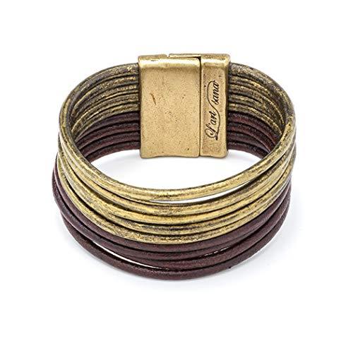 L'ART Sana Pulsera de Cuero Niebla, elaborada con Piel de Color Oro Viejo y Piel en Color marrón Oscuro. La Diferencia…, Nuestro diseño (20)