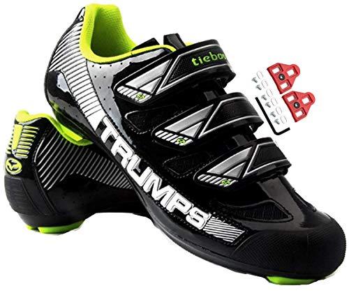 TPbike Binding Fahrradschuhe, Fahrradschuhe Rennradschuhe Stollen Herren- und Damen-Sportschuhe, mit ARC Delta Look - Perfekt für Rennräder