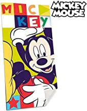 MICKEY MOUSE Cotton Reference KD Beach Wash Face Towels Home Textiles Unisex Adult, Multicolor (Multicolor), Single