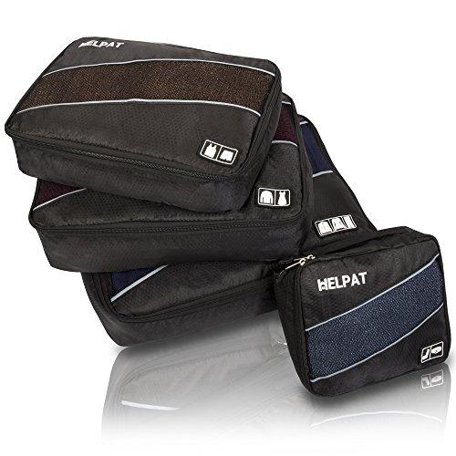 Packing Cubes, 4-teilig, für Koffer & Rucksack - praktische Packwürfel/Kleidertaschen als Koffer Organizer - hochwertiges Packtaschen Set fürs Reisen - leichte & handliche Packbeutel/Reisebeutel
