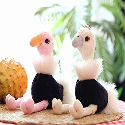 QIERK Juguetes de Peluche, Animales de Peluche, Serie de Avestruz arcoíris, Almohadas de Avestruz pequeñas de Peluche