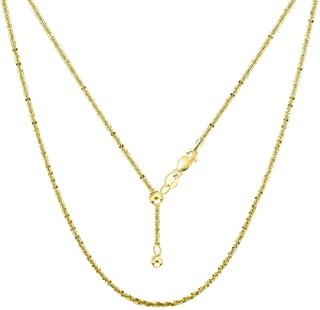 Best adjustable 14k gold chain Reviews