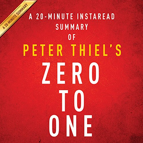 A 20-minute Summary of Peter Thiel's Zero to One: Notes on Startups, or How to Build the Future audiobook cover art