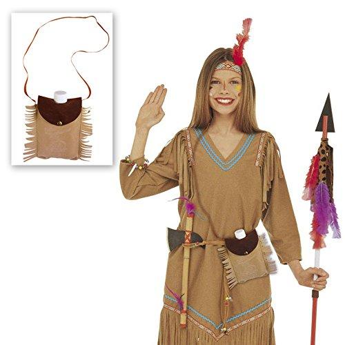 NET TOYS Poche Poitrine d`Indien avec Bouteille comme Accessoire déguisement Poche pour Boire Sac Poitrine Accessoire de déguisement
