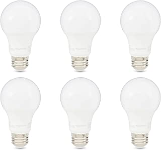 AmazonBasics 75W Equivalent, Daylight, Non-Dimmable, 10,000 Hour Lifetime, A19 LED Light Bulb | 6-Pack