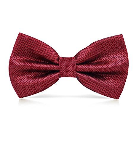 Dressystar nouvelle Mode Nœud papillon pour homme Pure couleur Rouge