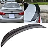 HECASA Rear Roof Trunk Spoiler Wing Lip JDM Style Compatible with 2014-2019 Infiniti Q50