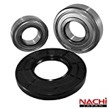 Front Load Bearings Washer Tub Bearing and Seal Kit with Nachi bearings, Fits Frigidaire Tub 131525500 (Includes a 5 year replacement warranty and link to our'How To' videos)