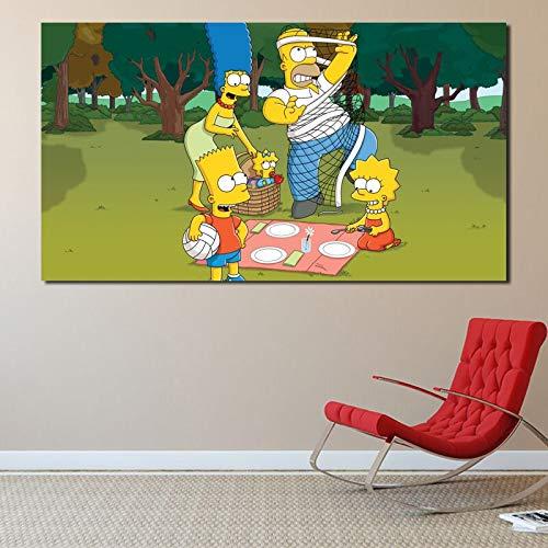 YuanMinglu TV-Serie Tapete Poster und Leinwanddruck dekorative Malerei Leinwandbild Wandkunst Schlafzimmer Home Decoration Kunstwerk rahmenlose Malerei 48x78cm