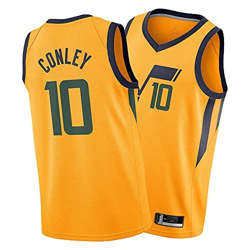 ASFHH Camisa de los Hombres de la Camisa de Baloncesto de la Temporada 21-22, Camiseta de Swingman Amarillo, Chaleco Deportivo Conley-M