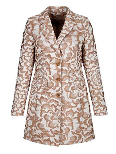 Alba Moda Damen Blazer mit Animal Print mit Reverskragen in Beige