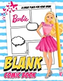 Barbie Blank Comic Book: Let's Make Your Own Unique World With This Comic Book.