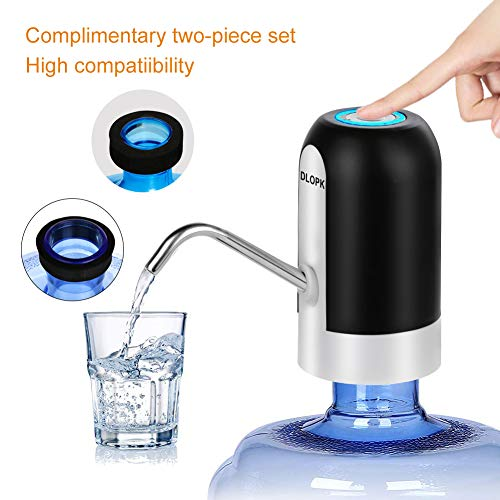 DLOPK Wasserspender, 5 Gallon USB Aufladung, automatische Wasserpumpe, tragbar, abnehmbar, geeignet für den Gebrauch in Wasser