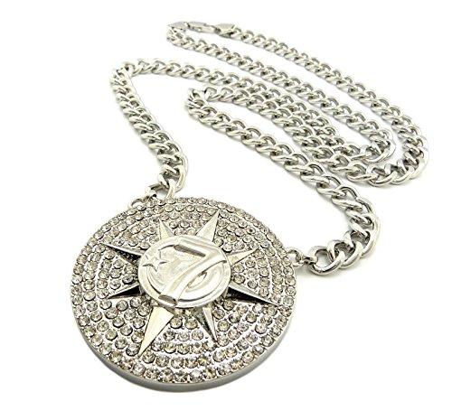 Shiny Jewelers USA Mens Iced Out Gold Tone 5...