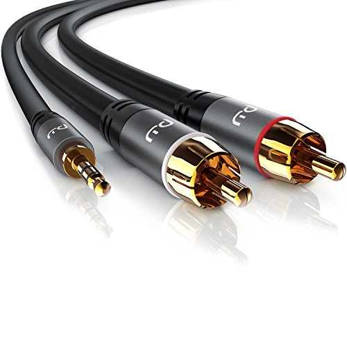 Primewire - 7,5m Jack 3,5 mm a RCA Audio Cable   Cinch...